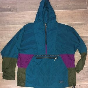 Vintage L.L. BEAN Anorak Aztec Windbreaker Jacket